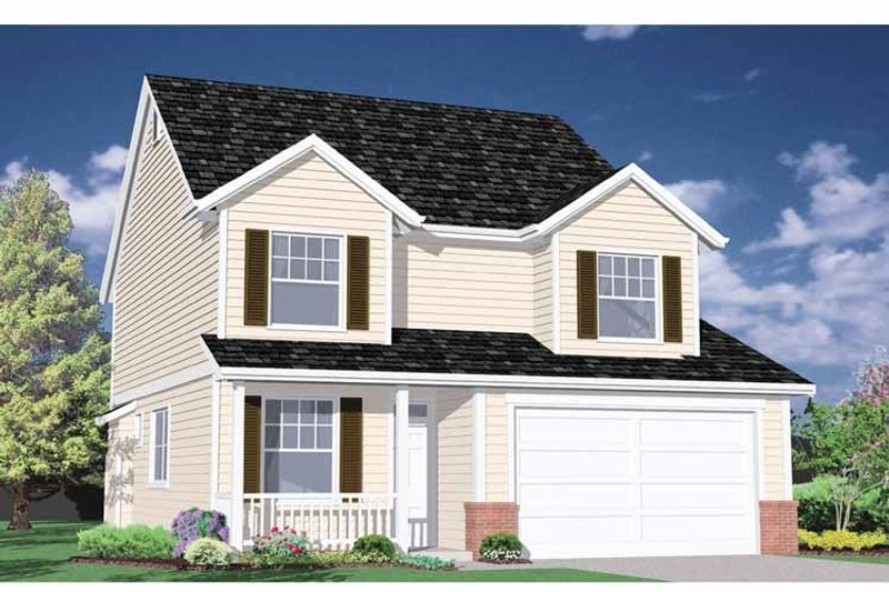 Country Exterior - Front Elevation Plan #509-204 - Houseplans.com