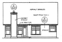 Country Exterior - Rear Elevation Plan #472-398