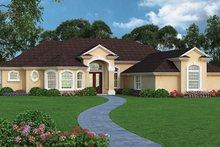 House Plan Design - Mediterranean Exterior - Front Elevation Plan #417-809