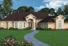 House Plan Design - Mediterranean Exterior - Front Elevation Plan #417-809