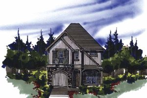 Architectural House Design - Traditional Exterior - Front Elevation Plan #509-147