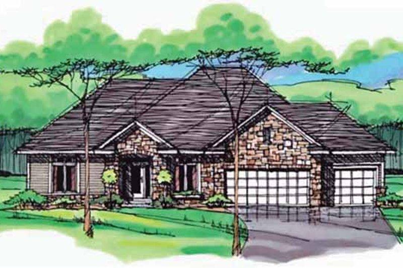 House Plan Design - European Exterior - Front Elevation Plan #51-995