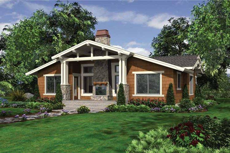 Craftsman Exterior - Rear Elevation Plan #132-528 - Houseplans.com