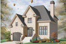 House Plan Design - European Exterior - Front Elevation Plan #23-2440