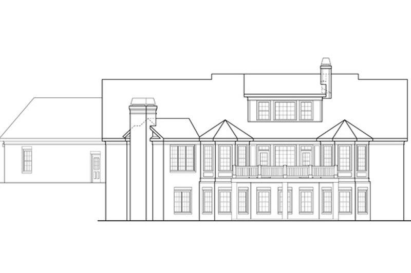 Traditional Exterior - Rear Elevation Plan #927-958 - Houseplans.com