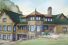 Home Plan - Log Exterior - Rear Elevation Plan #928-258