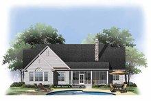 Ranch Exterior - Rear Elevation Plan #929-876