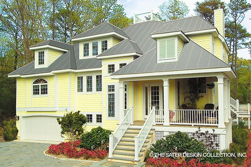 Architectural House Design - Country Exterior - Front Elevation Plan #930-111