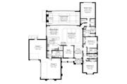Mediterranean Style House Plan - 3 Beds 3 Baths 3083 Sq/Ft Plan #930-448 Floor Plan - Main Floor
