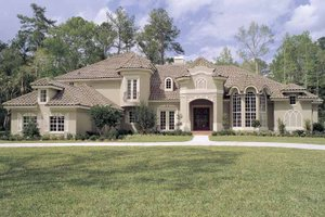 Home Plan - Mediterranean Exterior - Front Elevation Plan #417-536