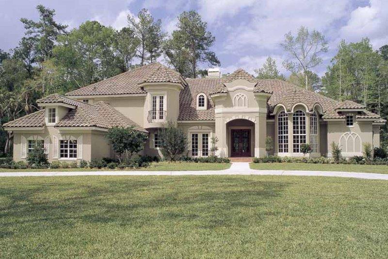 House Plan Design - Mediterranean Exterior - Front Elevation Plan #417-536