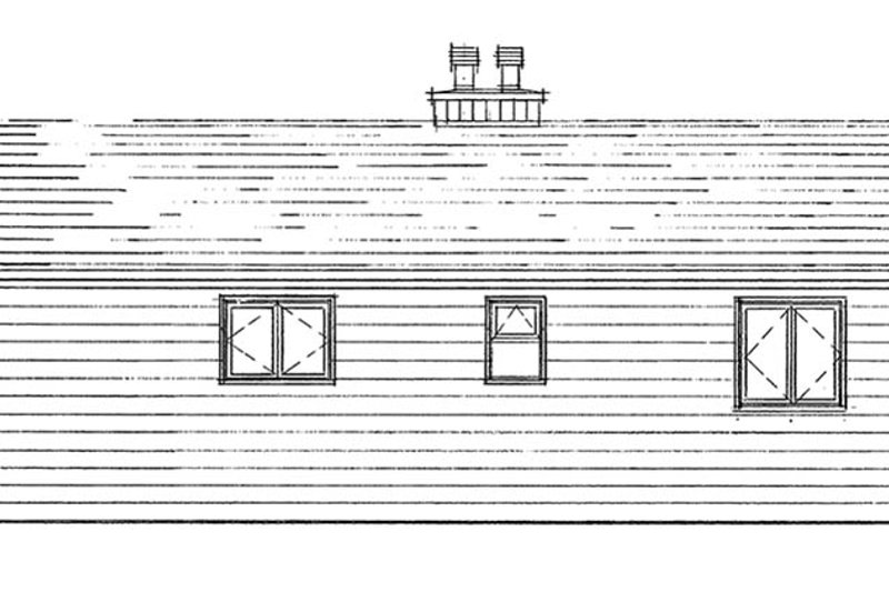 Ranch Exterior - Rear Elevation Plan #47-1033 - Houseplans.com