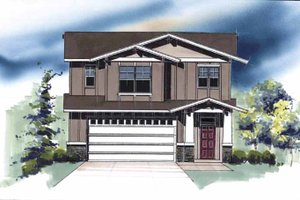 Architectural House Design - Traditional Exterior - Front Elevation Plan #509-402