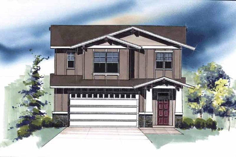 Traditional Exterior - Front Elevation Plan #509-402