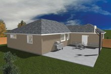 Home Plan - Ranch Exterior - Rear Elevation Plan #1060-22