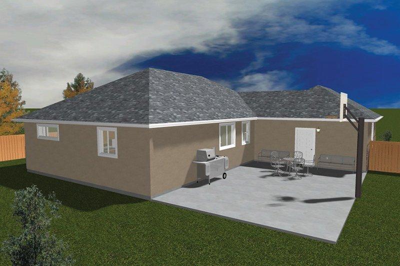 Ranch Exterior - Rear Elevation Plan #1060-22 - Houseplans.com
