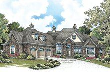European Exterior - Front Elevation Plan #929-912