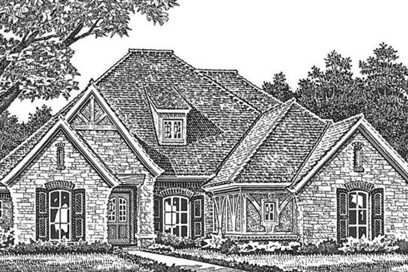 European Exterior - Front Elevation Plan #310-1271 - Houseplans.com