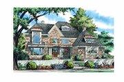 European Style House Plan - 5 Beds 4 Baths 3865 Sq/Ft Plan #929-868 Exterior - Front Elevation