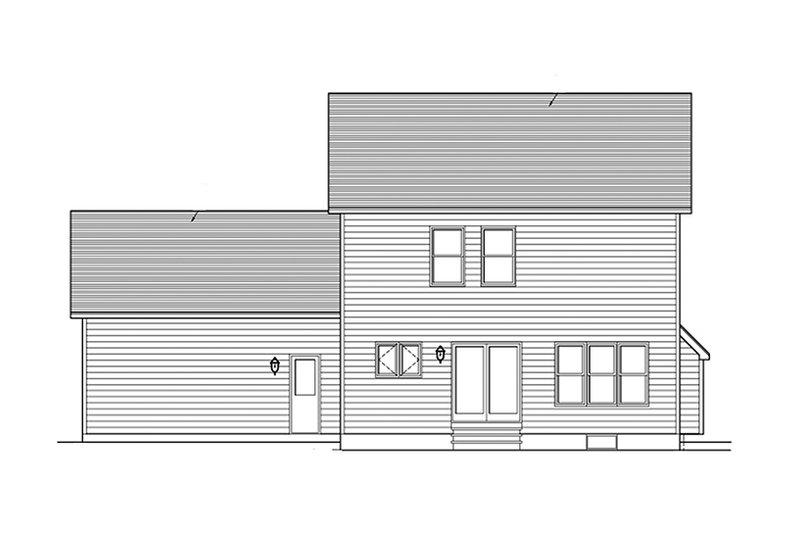 Colonial Exterior - Rear Elevation Plan #1010-113 - Houseplans.com