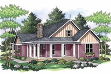 Home Plan - Country Exterior - Front Elevation Plan #51-691