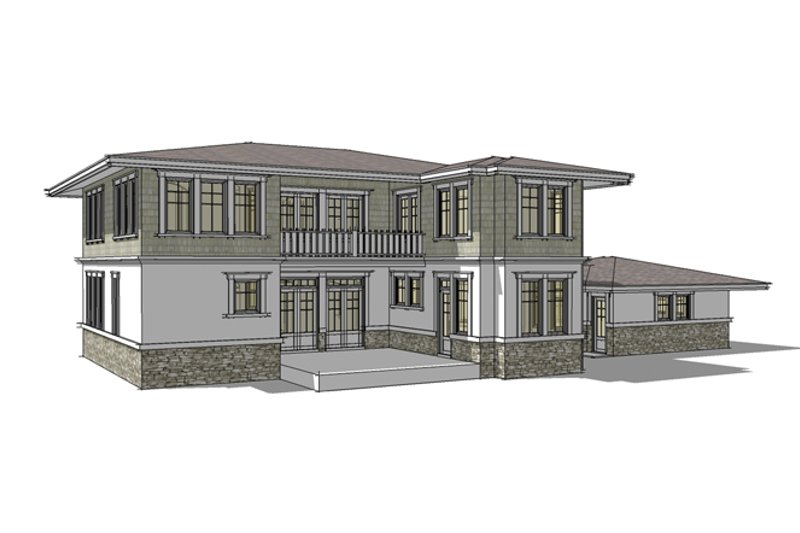 Traditional Exterior - Rear Elevation Plan #64-269 - Houseplans.com