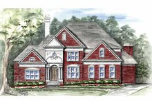 House Plan Design - Traditional Exterior - Front Elevation Plan #54-331