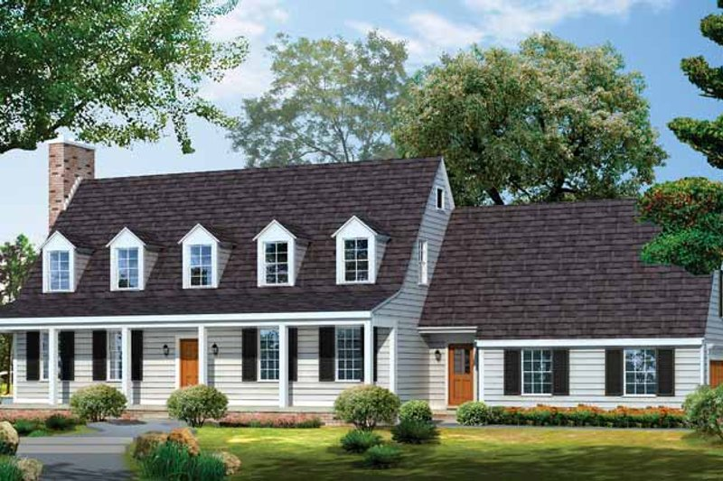 House Blueprint - Colonial Exterior - Front Elevation Plan #72-678