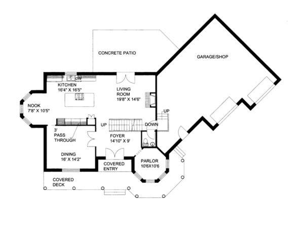 Victorian Floor Plan - Main Floor Plan Plan #117-864