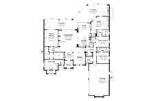 Mediterranean Floor Plan - Main Floor Plan Plan #930-446
