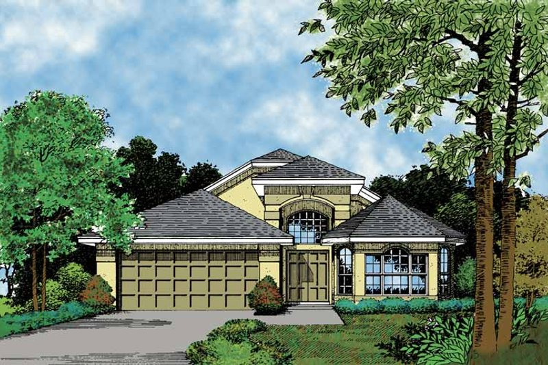 Mediterranean Exterior - Front Elevation Plan #417-773