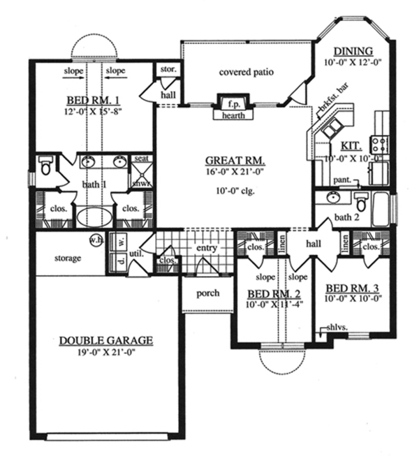 Traditional Floor Plan - Main Floor Plan Plan #42-718
