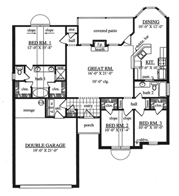 House Plan Design - Traditional Floor Plan - Main Floor Plan #42-718