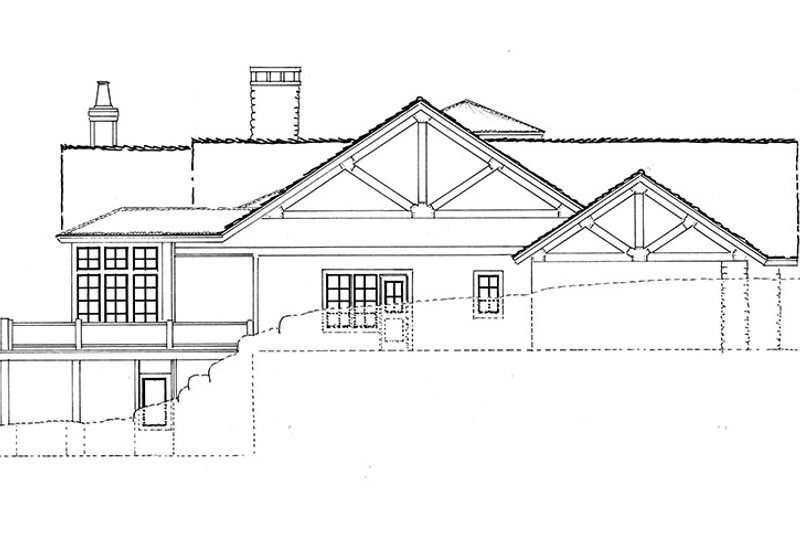 Ranch Exterior - Other Elevation Plan #942-35 - Houseplans.com