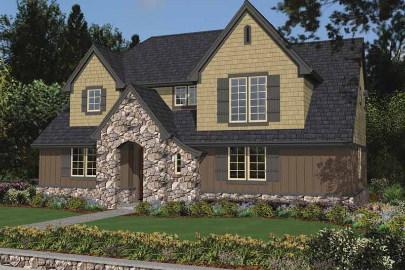 Tudor Exterior - Front Elevation Plan #48-871 - Houseplans.com