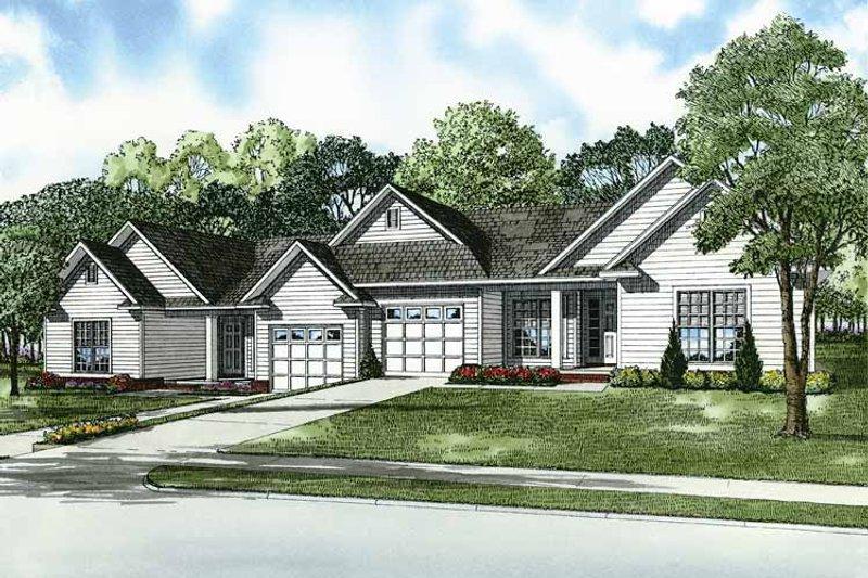 Dream House Plan - Craftsman Exterior - Front Elevation Plan #17-2828