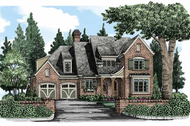 European Exterior - Front Elevation Plan #927-493