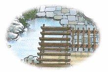 Exterior - Rear Elevation Plan #1040-54