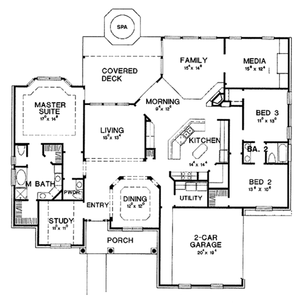 Colonial Floor Plan - Main Floor Plan Plan #472-171