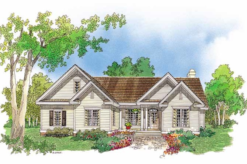 Ranch Exterior - Front Elevation Plan #929-514
