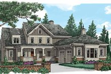 Country Exterior - Front Elevation Plan #927-939