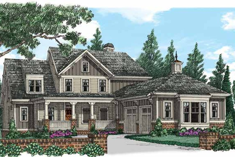 House Plan Design - Country Exterior - Front Elevation Plan #927-939