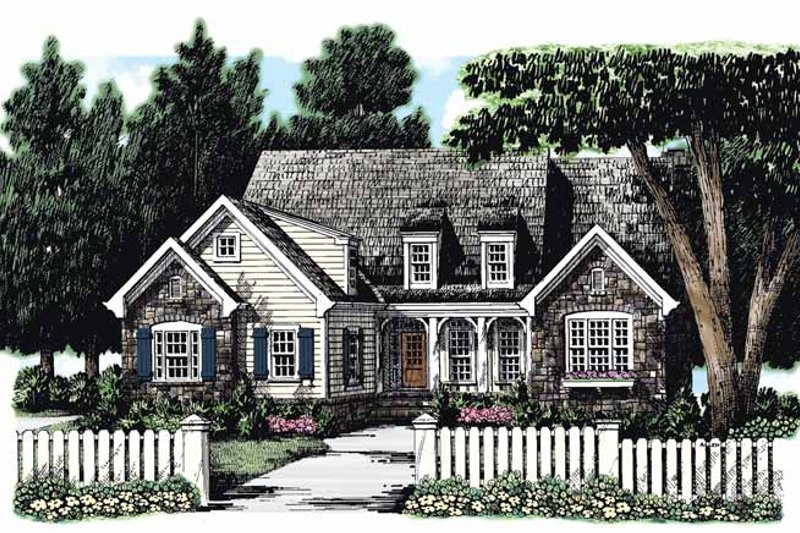 Architectural House Design - European Exterior - Front Elevation Plan #927-264