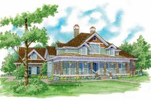 Victorian Exterior - Front Elevation Plan #930-241