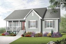 House Plan Design - Country Exterior - Front Elevation Plan #23-2400