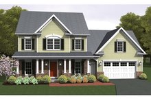 Colonial Exterior - Front Elevation Plan #1010-55