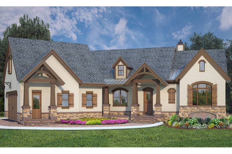 European Exterior - Front Elevation Plan #119-427 - Houseplans.com