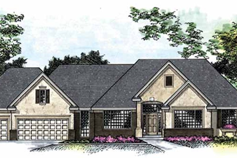 Country Exterior - Front Elevation Plan #51-789