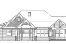 Dream House Plan - Traditional Exterior - Rear Elevation Plan #132-542