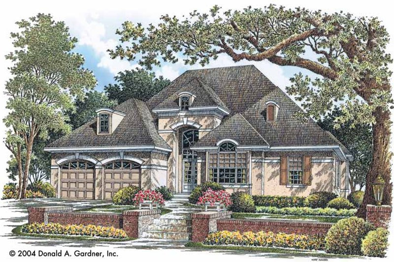 Country Exterior - Front Elevation Plan #929-736